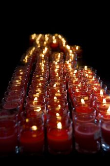 Free Red Candle Light Stock Photography - 16848622