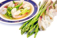 Free Stir Fired Asparagus And Shrimps Stock Images - 16848754