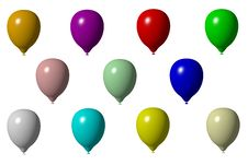 Free Coloured 3D Baloons Stock Image - 16848791