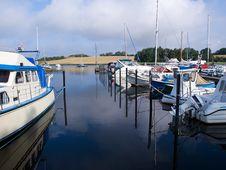 Yachts And Sail Boats In A Marina Royalty Free Stock Photo