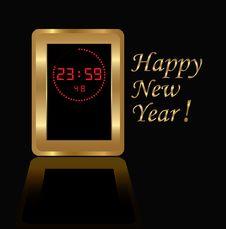 Free Golden Digital Clock Royalty Free Stock Images - 16849419