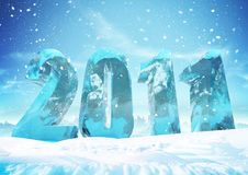 Free New Year S Eve 2011 Ice Figures Stock Images - 16849634