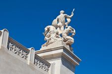 Marble Statue Of Three Roman Men Stock Photography