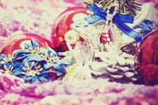 Free Christmas And New Year Decorations Stock Photos - 16849953