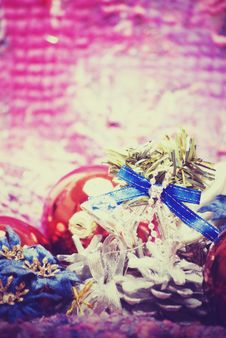 Free Christmas And New Year Decorations Royalty Free Stock Image - 16849956