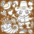 Free Thanksgiving Set 2 Stock Photo - 16850710