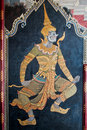 Free Thai Art Gold Painting On Wall Stock Photo - 16851020