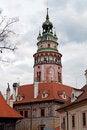 Free Castle Tower In Cesky Krumlov Stock Image - 16853991