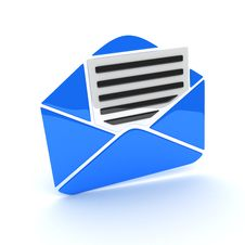 Free Mail Blue Royalty Free Stock Photography - 16850147