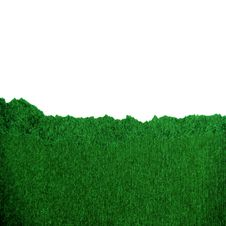 A Green Piece Of Paper. Royalty Free Stock Photos
