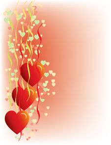 Free Hearts On Pink Background Royalty Free Stock Images - 16850509