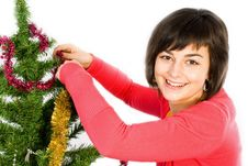 Free Young Woman Decorating Stock Photo - 16850660