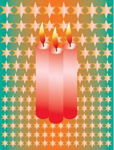 Free Birthday Candles For 3 Year Stock Images - 16850834