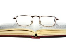Free Book And Glasses Royalty Free Stock Photo - 16851335