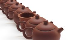 Free Clay Teapots And Tea Strainer Royalty Free Stock Photography - 16851887