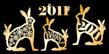 Simvol 2011 Year Of The Rabbit Royalty Free Stock Images