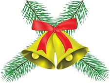 Free Two Christmas Bell Stock Photography - 16852812