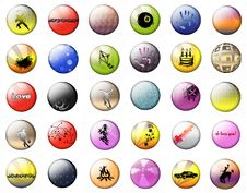 Free Bright Buttons On A White Background Royalty Free Stock Images - 16852989