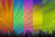Free Big City Skyline, Background Royalty Free Stock Images - 16854259