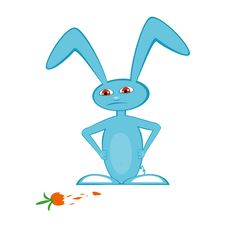 Free Displeased Blue Hare Stock Image - 16854571