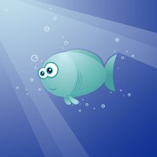 Free Cute Fish Royalty Free Stock Photography - 16854597