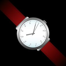 Free Watch On Black Stock Image - 16854791