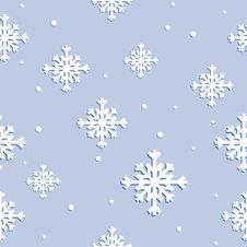 Free Seamless Texture With Snowflakes Royalty Free Stock Images - 16854809