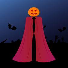 Halloween Pumpkin Head Demon Royalty Free Stock Image
