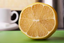 Part Of Lemon For Tea Stock Image