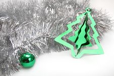 Silver Ang Green. Christmas Background Stock Images