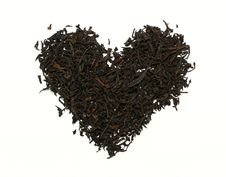 Free Tea Heart Isolated On The White Background Royalty Free Stock Images - 16856679