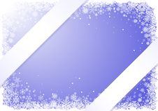 Free Blue Winter Frame With Snowflakes Royalty Free Stock Image - 16857446