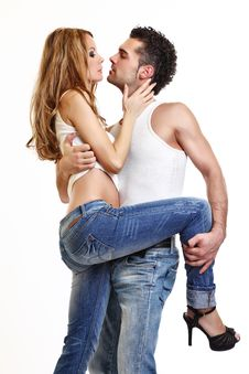 Free Picture Of A Passionate Couple Royalty Free Stock Image - 16858106