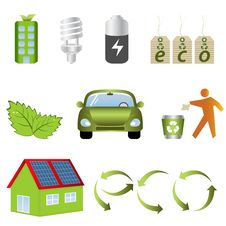Free Eco Related Icons Stock Photography - 16859102