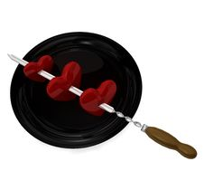 Free Skewer And Hearts Stock Photos - 16859103
