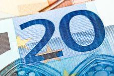 Free Twenty Euro Note Stock Photography - 16859352