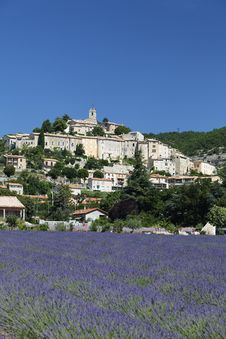 Free Lavender, Town And Blue Sky Stock Images - 16859614