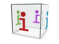 Free Info Glass Cube Icon Royalty Free Stock Images - 16859679