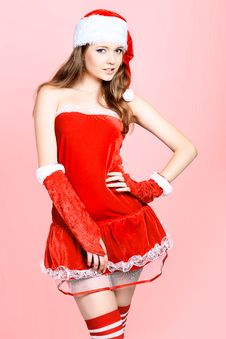 Free Christmas Girl Royalty Free Stock Images - 16859909