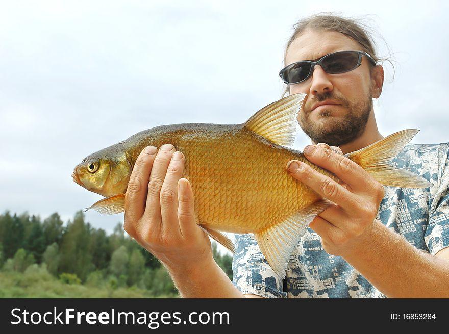 Fisherman and a fish