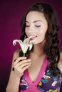 Free Beautiful Girl With Lily Stock Image - 16863601