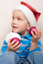 Free Boy In Red Christmas Hat Royalty Free Stock Photo - 16869445