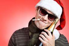 Free Smoking Santa Stock Photo - 16860310