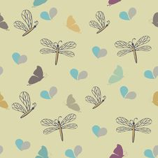 Free Dragonflies On The Meadow Royalty Free Stock Photography - 16860337