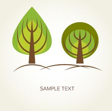 Free Abstract Vector Trees Stock Photography - 16860402