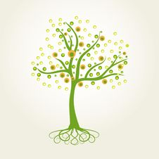 Free Abstract Vector Tree Royalty Free Stock Photo - 16860415