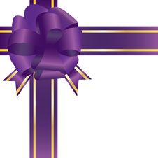 Free Violet Festive Bow Stock Photography - 16860482