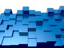 Free 3d Cubes Background Royalty Free Stock Image - 16860606