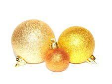 Free Gold Christmas Balls Stock Photography - 16860632