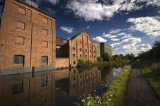Free Canalside Factory Royalty Free Stock Photography - 16860747